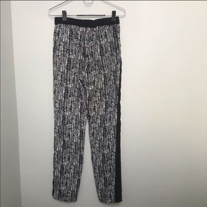 Vince Camuto Draw String Black and White Pants XS